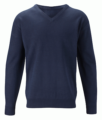 Navy Up-To-Date Styling Sweaters Reasonable Orbit Acrylic V Neck Mens Classic Jumper Cju1 Black Clothing, Shoes & Accessories