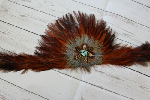 Feather Hatband New Leather Tie Rodeo Fashion Hat Band Horse Show Parade Crown R