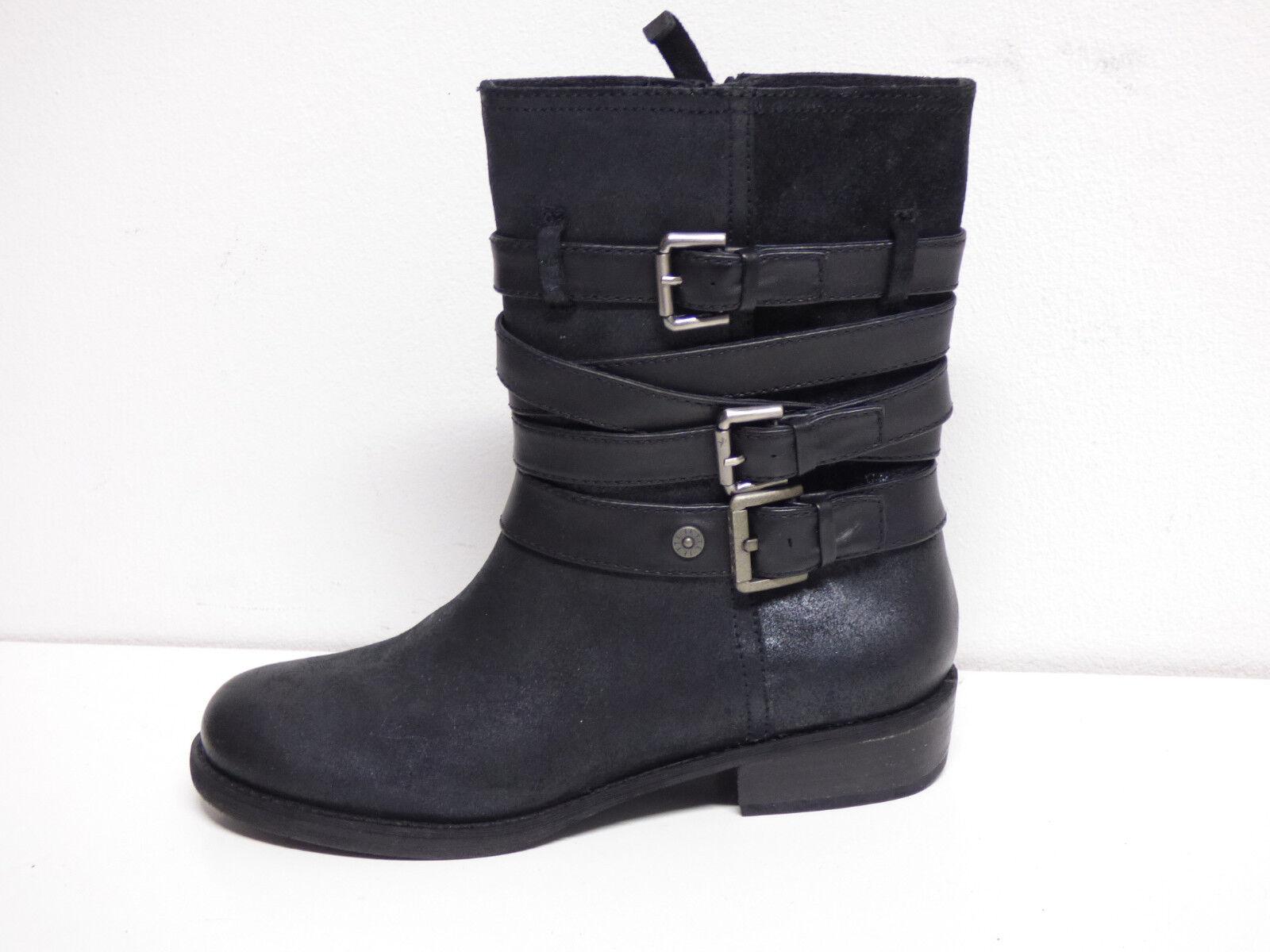Jette Joop señora botas de de botas cuero talla 40 de negro & nuevo con caja de cartón (p 5635) 0b726e