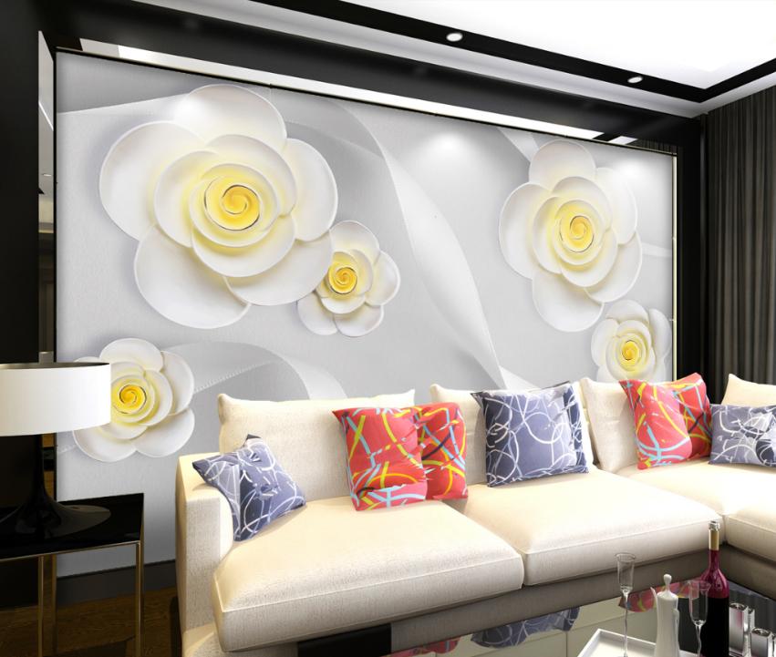 3D Adorn Petal 4078 Wallpaper Murals Wall Print Wallpaper Mural AJ WALL UK Carly