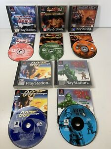 PS1 Playstation Games x5 Martian Gothic Colony Wars Army Men 3D Spec Ops 007