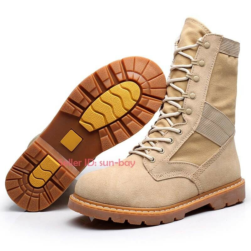 Men's Army Tactical Cowhide Boots Combat Outdoor Climbing Hiking Desert shoes