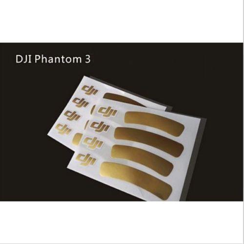 2x DJI Golden Decals//Stickers Phantom 1//2//3 Universal Housing Cover Phantom 3