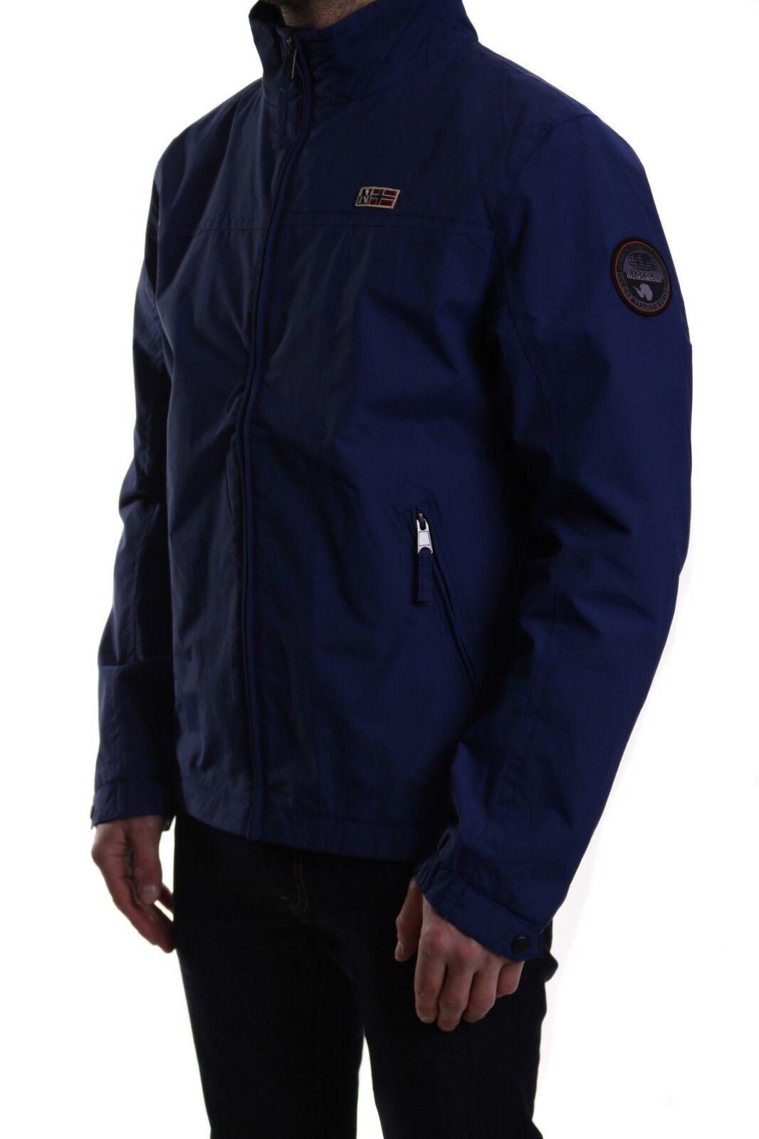 Napapijri Shelter Shower Rain Windbreaker Jacket Blau Depths 30% Off