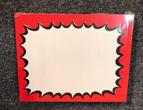 Red//Black Blank Starburst Price Display Signs-50pcs-5.5x7 Price cards
