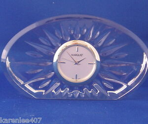 Image Is Loading Waterford Marquis Crystal Clock Quartz Movement New Battery