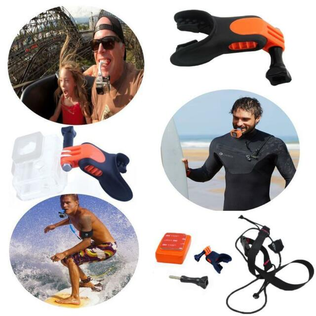 Surfing Skating Mouth Grill Mount Holder Floaty For GoPro Hero 4 2 3+ Camera NEW