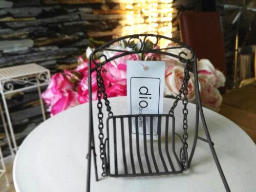 Balançoire Hollywood Gardening meubles mobilier de jardin métal 1:12 rouille marron/gris