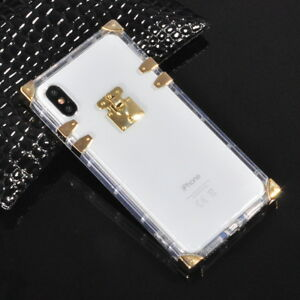huge discount afdcd 8bc72 Details about Famous Clear Crystal Soft Rubber Case Cover For iPhone X XS  Max XR 6 7 8 Plus