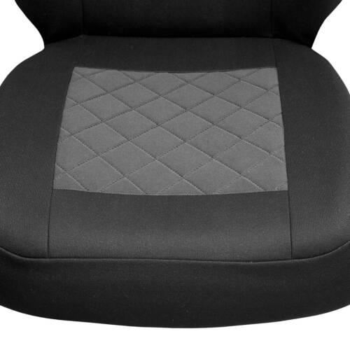 Schwarz-graue Sitzbezüge für OPEL ASTRA Autositzbezug VORNE