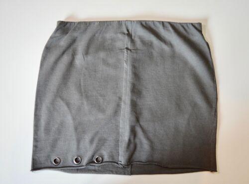 Ex Décomposition Des h/&m Ragged ourlet gris foncé Coton Jupe Taille 8