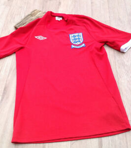 bb67a00e8d0 Umbro England South Africa World Cup ss 2010 Red Away 36