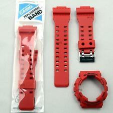 ORIGINAL CASIO G-SHOCK REPLACEMENT BAND AND BEZEL for GA-100B-4A GA100B-4A, RED