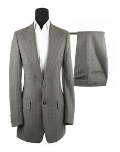 d1b35061867 Vintage Men s Bespoke Hand Tailored Gray Herringbone 2 Piece Suit ...