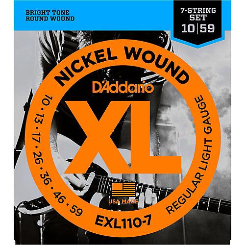 D/'Addario EXL-110-7 Nickel Wound Electric Guitar Strings 7-string set  10-59