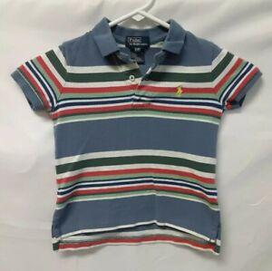 POLO-Ralph-Lauren-Boys-Short-Sleeve-Striped-Polo-Shirt-Boy-s-Youth-Sz-3-3T-Baby