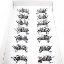NEW IH33 10 pairs/LOT  BLACK THICK HANDMADE HALF MINI CORNER False eyelashes