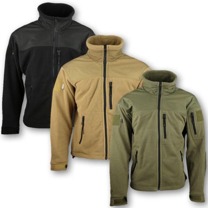 Hommes Tactique DEFENDER polaire S-3XL veste vert fermeture éclair vert veste Temps froid 88f313