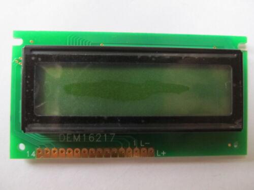 Display LCD DEM16217SYH-LY STN Positive Alphanumeric 16x2 Char:5.55mm