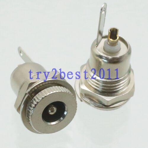 5pcs Connector DC Power 5.5mm x 2.5mm jack pin bulkhead socket for Panel mount