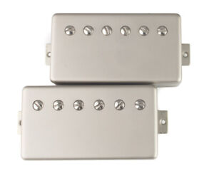 PAF-Humbucker-Pickups-4-conductor-wiring-Satin-Nickel-Covers-Coil-Tap