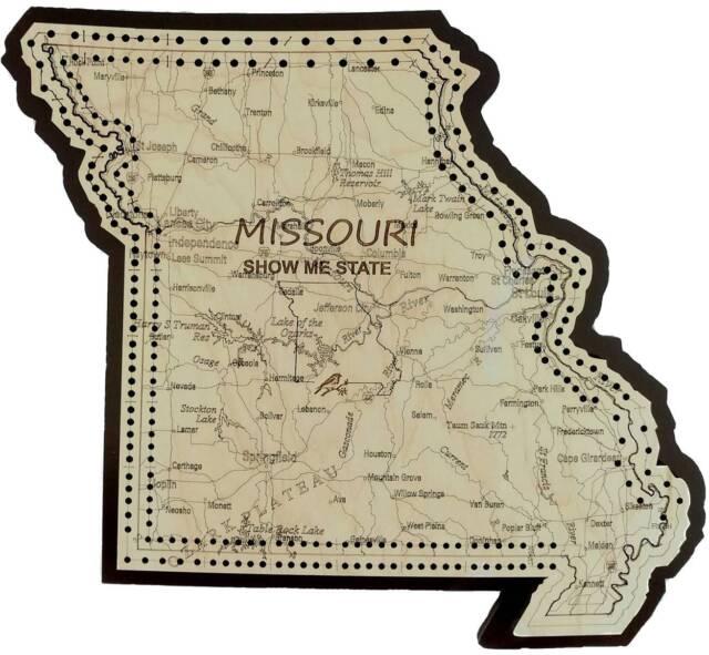 Missouri State Shape Road Map Cribbage Board For Sale Online Ebay