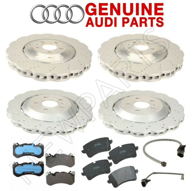 HAWK 2004-2008 AUDI S4 4.2L V8 B6 B7 CERAMIC STREET FRONT AND REAR BRAKE PADS