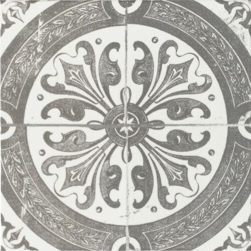 Steingut 1m² Wandfliese La Vita grau glänzend 20x20 cm