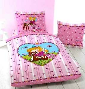Linon Kinder Bettwäsche Prinzessin Lillifee Bambi Neuovp 100
