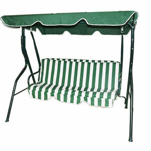 2 Or 3 Seater Garden Swing Seat Outdoor Metal Bench Chair