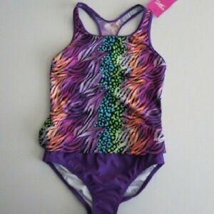 6743fee9473 Speedo Girl's 14 Purple Orange Blue 2 Pc Bikini Tankini Bikini ...