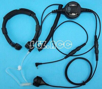 Military Throat Mic Headset/Earpiece For Cobra Radio CXT545 CXT235 CTW285P