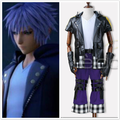 Kingdom Hearts III Riku Uniform Anime Cosplay Custom Made .Free Shipping{