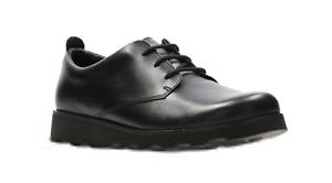Londres Zapatos De Niños Colegio Clarks Senior Para Piel Corona Jnr Cordones 41wa1Acqgx