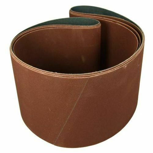 2 Pack 6 X 48 Inch 100 Grit Aluminum Oxide Premium Multipurpose Sanding Belts