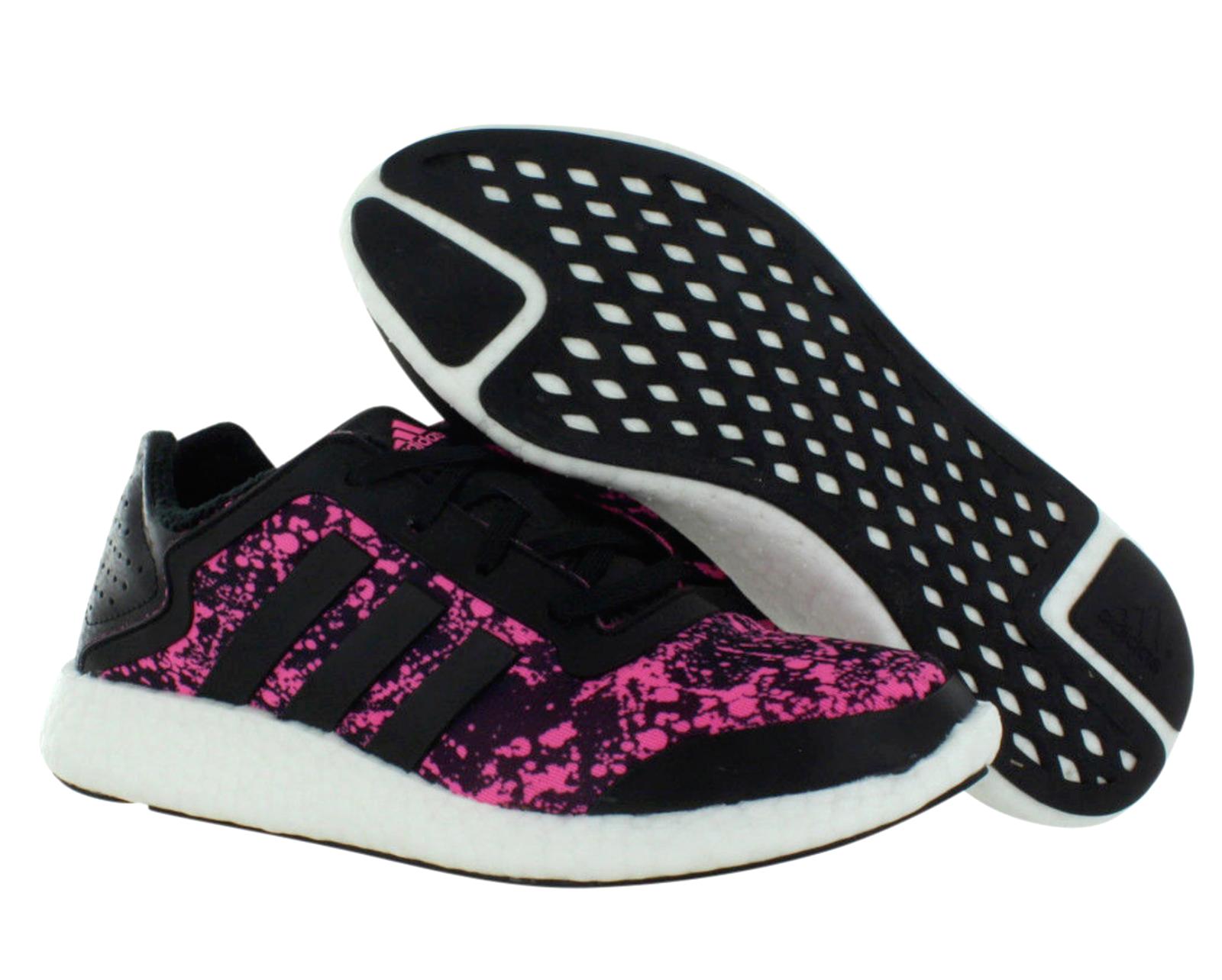 Adidas PureBoost Q4 Womens UK 6.5 EU 40 Black Pink White Running shoes Trainers