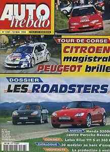 AUTO-HEBDO-n-1187-du-12-Mai-1999-HONDA-S2000-PORSCHE-BOXSTER-LOTUS-ELISE-111-amp-340
