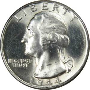 1944-25c-Washington-Silver-Quarter-US-Coin-Uncirculated-Mint-State
