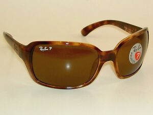 9751b1620444f New RAY BAN Sunglasses RB 4068 642 57 Glass Polarized Brown Lenses ...
