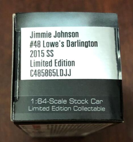 2015 Jimmie Johnson Lowes Darlington Throwback Retro 1:64 scale car