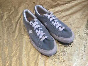 757d76297992 CONVERSE ONE STAR Vintage Sneakers Sky Blue Suede 80 s Sports Shoes ...