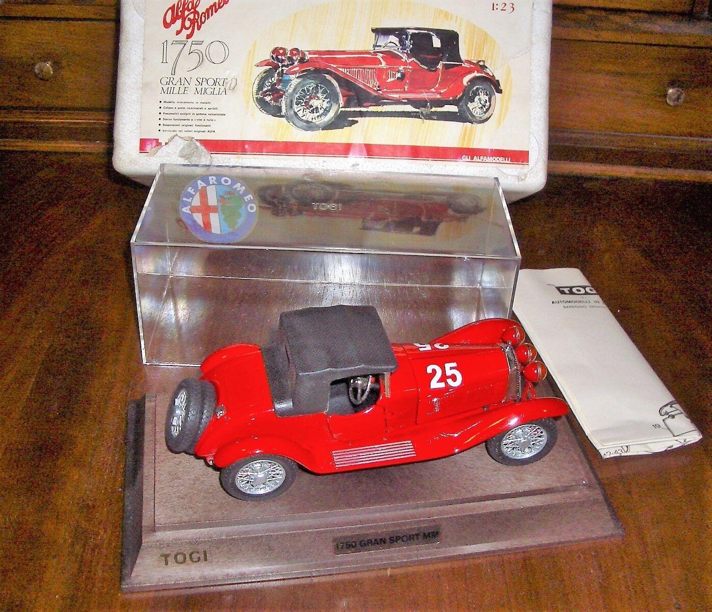 1 23 TOGI Alfa Romeo 1750 Gran Sport Mille Miglia 1930  25 rouge MIB Very Rare