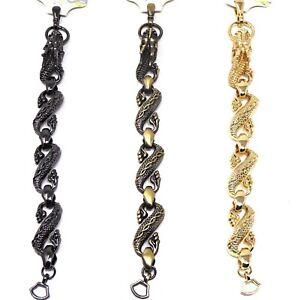 Bracciale-braccialetto-metallo-drago-DRAGONE-chiusura-aragosta-accessorio-unisex