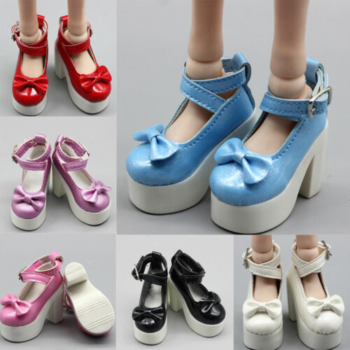 1 Pair doll princess high heel shoes for 1//3 1//4 BJD 60cm dolls shoes giftWTUS