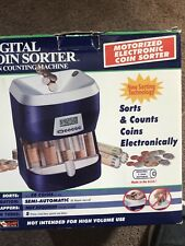 Digital Electric Coin Sorter Magnif Coin Motorized Counting Machine