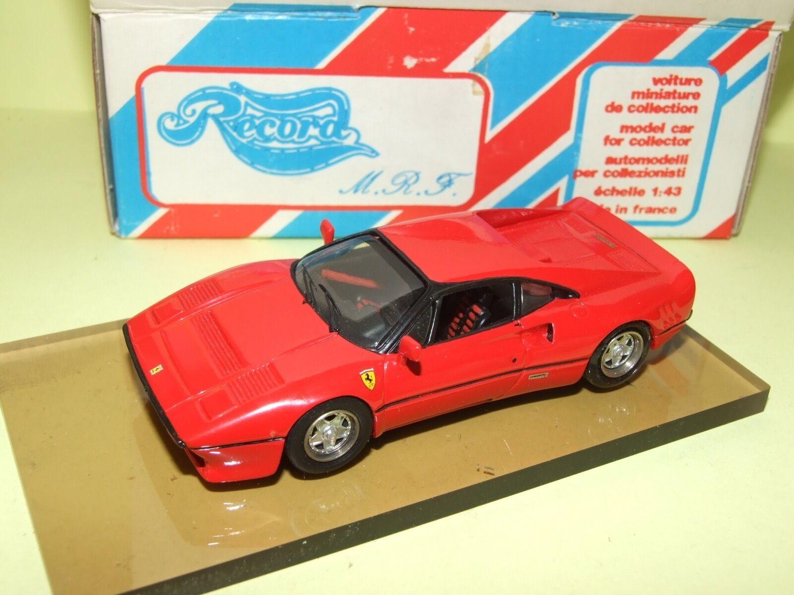 FERRARI GTO 1984 Rouge KIT MONTÉ RECORD 1 43