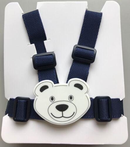 TEDDY BEAR HARNESS REINS for BABY in SILVER CROSS WILSON COACH BUILT PRAMS