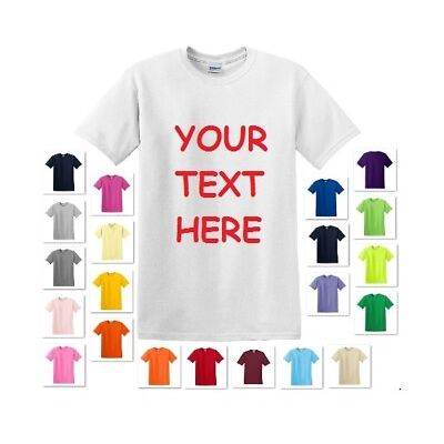 PERSONALIZED CUSTOM PRINT YOUR OWN TEXT ON A T-SHIRT CUSTOMIZED TEE MEN'S