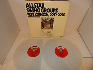 PETE-JOHNSON-COZY-COLE-BEN-WEBSTER-ALL-STAR-SWING-GROUPS-Savoy-Sessions-2-LP-EXC