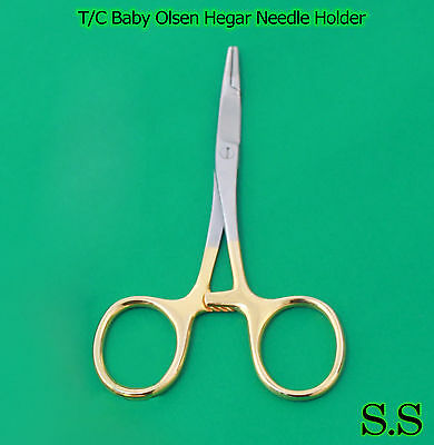 "T/C Baby Olsen Hegar Needle Holder 4.50"" Surgical Dental Instruments"